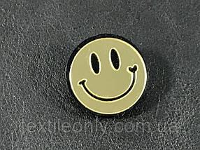 Модный значек / брошь Smile цвет зеркально золотой 25 мм