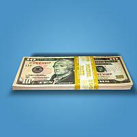 Деньги сувенирные 10 долларов - 80 шт