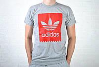 Мужская Футболка на каждый день адидас (Adidas)  реплика, фото 1