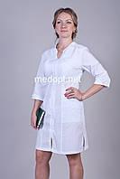 Халат белый медицинский(батист) 2125