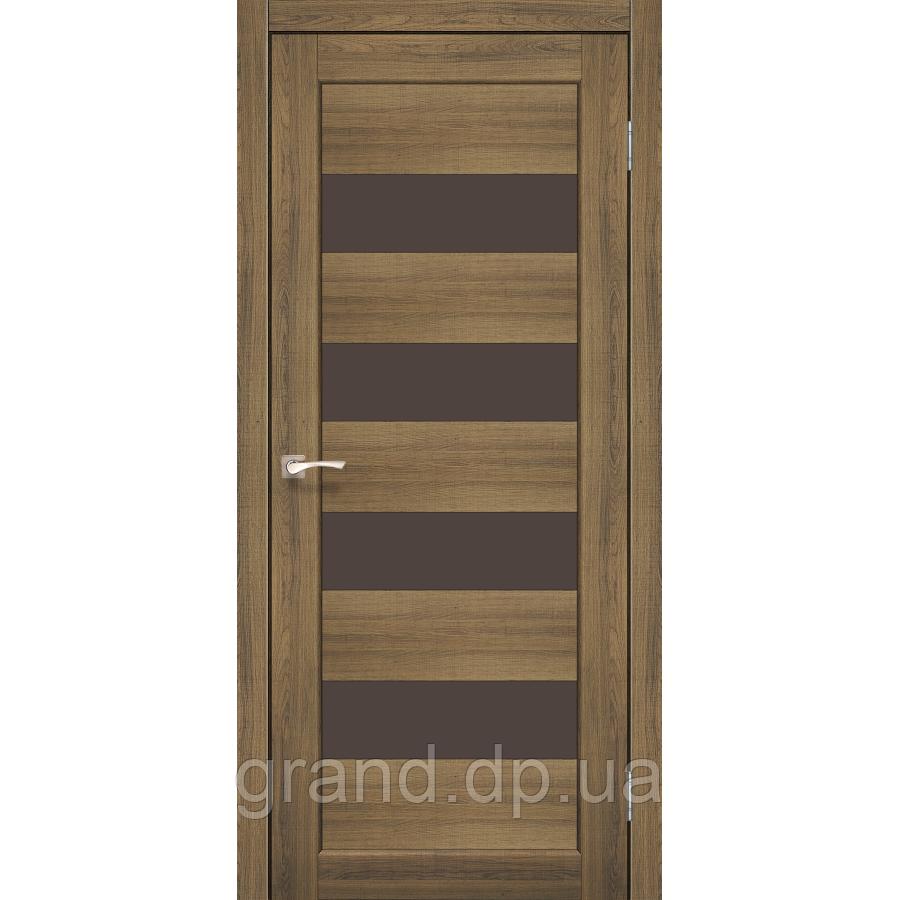 Двери межкомнатные Корфад PIANO DELUXE Модель: PND-02 цвет дуб браш с бронзовым стеклом