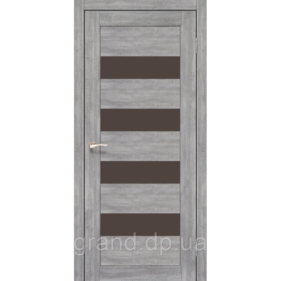 Двери межкомнатные Корфад PIANO DELUXE Модель: PND-02 эш вайт с бронзовым стеклом