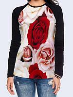 Лонгслив-реглан Ароматные розы