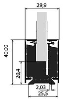 Декоративная планка для клеммного профиля H40 из анодированного алюминия