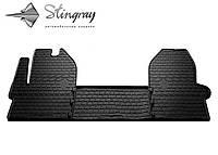 Коврики резиновые в салон IVECO Daily VI 2014- Комплект из 3-х ковриков Черный в салон
