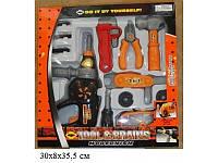 Игрушечный набор инструментов в коробке