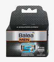 Balea MEN Сменные лезвия для станка Revolution 5-лезвий, 4 шт