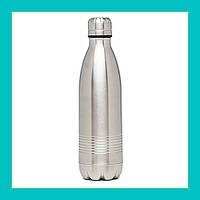 Стальной термос-бутылка №3