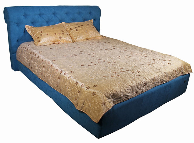 Кровать двуспальная Лондон, Дели 17 Аква цвет синий
