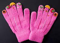 Рукавички для девочек детские с узорами