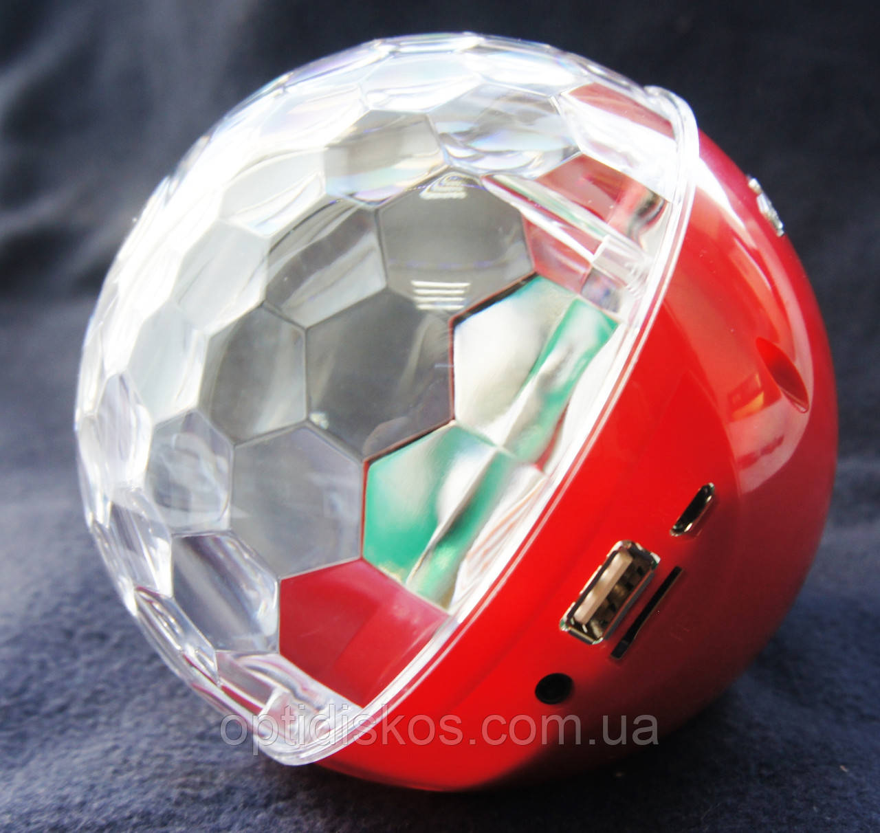 Bluetooth портативная колонка, MP3 плеер, диско-шар, YPS-D108, красная