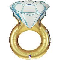 Гелиевый фольгированный шар Золотое Кольцо. Гелиевые шары на День Влюбленных.