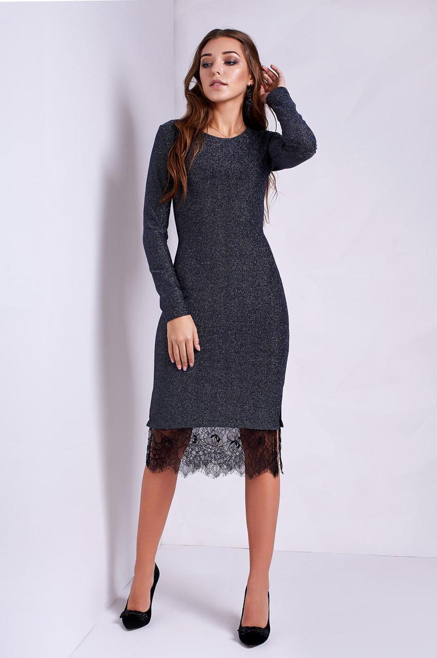 098e402c582 Модное молодежное платья облегающее с черным кружевом от оптово ...