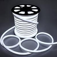 LED неон гибкий 220V 120led/m SMD3528 9,6W IP67 Белый