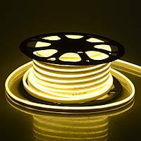 LED неон гибкий 220V 120led/m SMD3528 9,6W IP67 Белый теплый