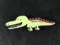 Модный значек / брошь Крокодил 72х24мм