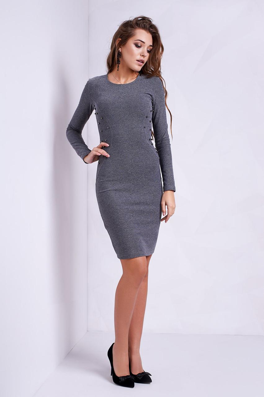 3861ff27f60 Эффектное платье для вечеринки по бокам расшито бусинками -  Оптово-розничный магазин одежды