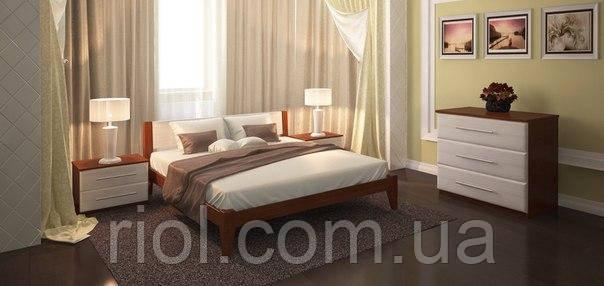 Кровать из массива дуба Арт-5 полуторная