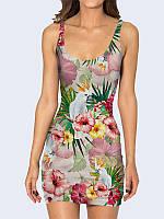 Платье Какаду в тропиках