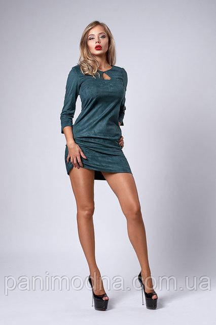 Красивое платье из плотного замша  -  код 293