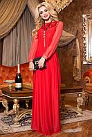 Утонченное стильное вечернее красное платье