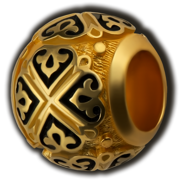 Бусина Равносторонний крест
