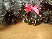 """Игрушка на елку ручной работы """"Рождественский венок"""" (елочная игрушка, Подарок на Новый Год)"""