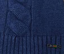 Шапка унисекс GUCCI D-5035 темно-синяя, фото 2
