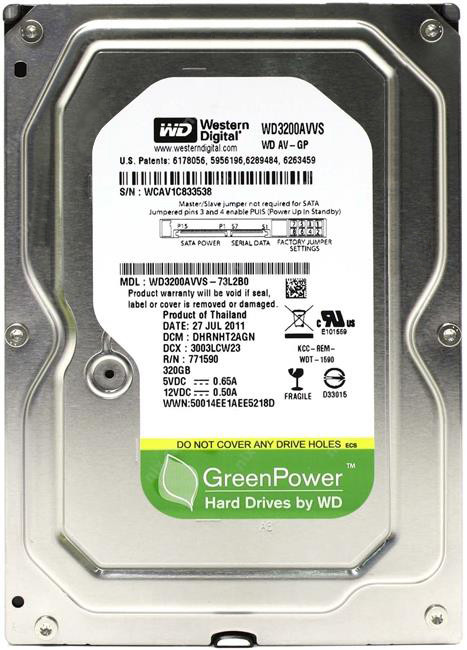 Жесткий диск Western Digital 320GB (WD3200AVVS) (ОПТ)