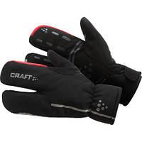 Перчатки Craft Bike Thermal Split Finger glove - L/10 9430 Black/Bright Red 2014 (1901624) XL/11