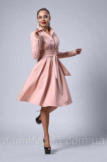 Стильное платье с итальянского трикотажа, новинка 2018 -   код 538