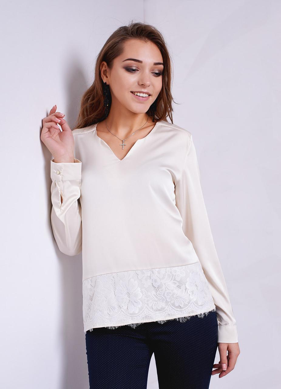 a1faa7db7aa Праздничная молодежная блуза из шелка с кружевной вставкой от оптово ...