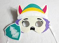 Карнавальная маска + значок  Эверест  девочка для сюжетно ролевых детских игр Щенячий патруль