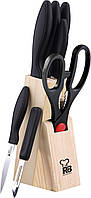 Набор кухонных ножей на деревянной подставке 8 пр RENBERG RB-8813