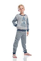 """Пижама для мальчика """"Веселые зверята"""" теплая"""