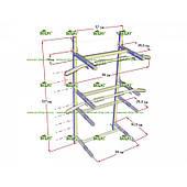 Настенный складной комплекс турник-брусья LecoSport LS32160 Home