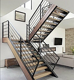 Перила для лестницы в стиле Лофт, фото 6