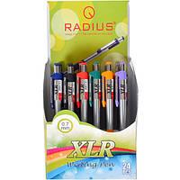 Ручка XLR RADIUS корпус 6 цветов, 24 штук, синяя