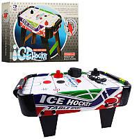 Детский аэрохоккей настольный ZC 3001+1, воздушный хоккей на ножках, поле 50-60см, 220V, в кор-ке, 51,5-31-43