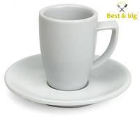 Кофейная пара чашка Rimini - 180 мл и блюдце Rimini - 14 см (Merxteam) шпатовый фарфор