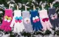 Теплые детские перчатки ARKADIA для девочки, Margot Bis (Польша)