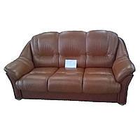 """Кожаный комплект """"Plaza"""" диван тройка + 1 кресло"""