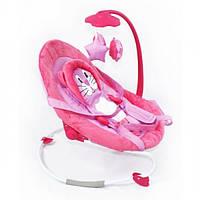 Детский шезлонг-качалка BT-BB-0002 розовая