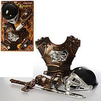 Детский Набор рыцаря JT 339 A 1, доспехи, шлем, меч, на листе, 57-38-12см
