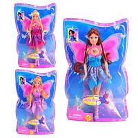 Кукла DEFA 8196 с крыльями, 3 вида, свет, в слюде, 32-21-7см