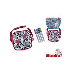 Оригинал. Сумка раскраска Color Me Mine с блестками Звезды Simba 6379139