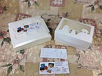 Коробка Молочная для 6-ти кексов с окном Новый год для капкейков, маффинов 250*170*90, фото 1