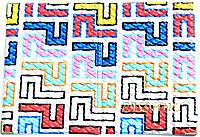 Обложка на паспорт «Ералаш-Абстракция» белый фон