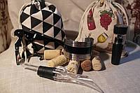 """Набор для вина с термометром """"Сомелье Люкс"""" из 4 предметов: термометр + аэратор + штопор + вакуумная пробка"""