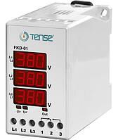 Реле контролю фаз пристрий захисту 3-х фазного електродвигуна мікропроцесорний DIN винты ціна купити
